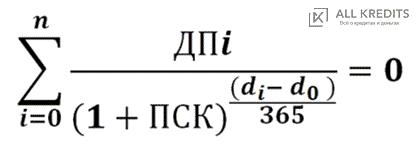 Формула расчета полной стоимости